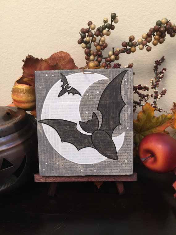 Crescent Moon and Bats, by Geoffrey Long - www.geoffreylong.com