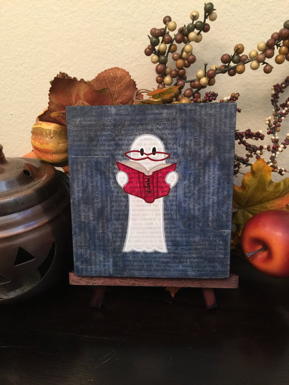 Ghost Reading a Book, by Geoffrey and Laura Long - www.mysterybarn.com