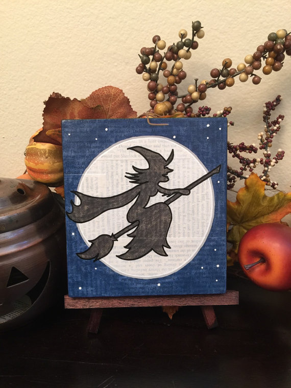 Full Moon and a Witch on a Broom, by Geoffrey and Laura Long - www.mysterybarn.com